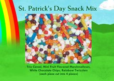 Snack Mix I made for Aidan's class for St. Patrick's Day :)