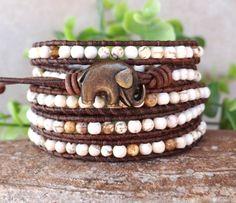 Bracelet en turquoise Bracelet en éléphant par AZJEWELRYBYELIZABETH