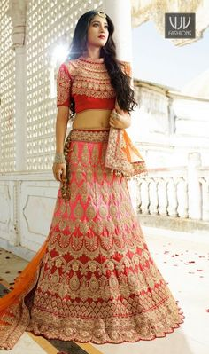 Shivangi Joshi Attractive Red And Pink Designer Lehenga Choli Fashion will be at the peak of your beauty when you dresses red and pink color satin designer lehenga choli. Beautified with embroidered, patch border, resham and zari work all synchronized very well with all the pattern and style and design of the dress.