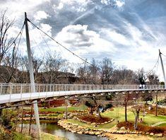 Liberty Bridge in Falls Park, Greenville, South Carolina
