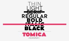 Tomica — Font — AinsiFont — Digital Foundry