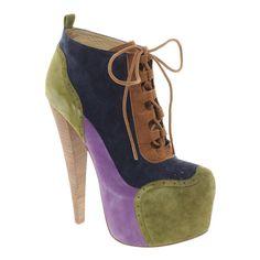 ALDO Rise x Preen Rosann Print Platform Heeled Ankle Boots ❤ liked on Polyvore