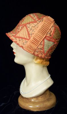Vintage ART DECO Peach Coral Orange & Red by TarnishedPast on Etsy, $299.99