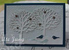 """Winterkarte mit """"Wald der Worte"""""""