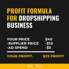 PROFIT FORMULA FOR DROPSHIPPING BUSINESS | GLUCOTECH Drop Shipping Business, Ads, Photo And Video, Videos, Instagram