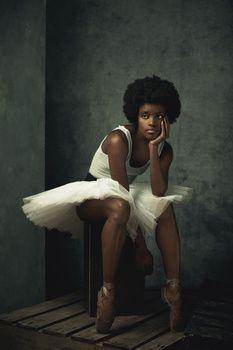 """Ballet Dancer"" by Ingrid Silva Photo Credit: Alex Logaiski "" Black Girl Art, Black Women Art, Beautiful Black Women, Black Art, Black Girl Magic, Black Girls, Art Women, Black Dancers, Ballet Dancers"