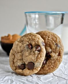 Peanut Butter banana chocolate chip cookies (How Sweet it is)