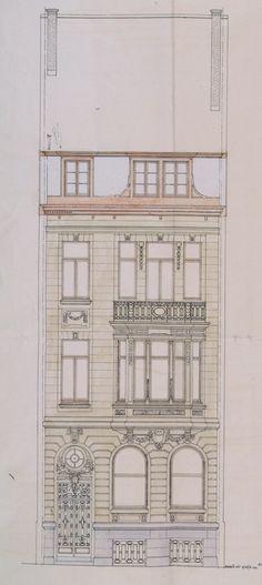Bruxelles Extension Sud - Rue de Tenbosch 34 - CHARLE Gabriel