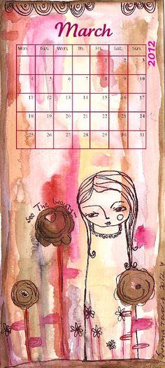 free art calendar - March