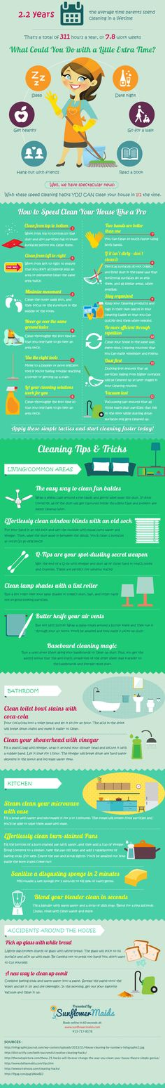 how-to-clean-your-house-in-half-the-time-infographic - Austral Cleaning Brisbane