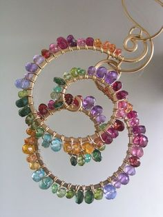 Fashion Jewelry Objective Designer Red Pink Factered Sapphire Beaded Multi Strand Necklace Necklaces & Pendants