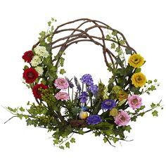 Silk Flowers, Spring Flowers, Faux Flowers, Paper Flowers, Deco Nature, Hydrangea Wreath, Tulip Wreath, Berry Wreath, Spring Nature