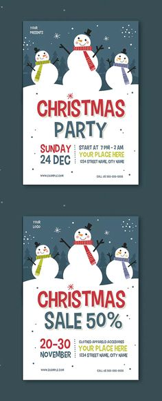 1442 best Christmas Flyer Templates images on Pinterest in 2018