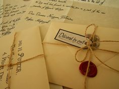 When I get engaged, I am sending bridal shower or engagement party invites in the style of Hogwarts letters