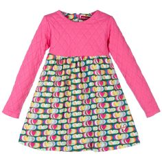 Girls Pink Cotton Dress with Hearts, Agatha Ruiz de la Prada, Girl