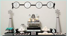 Cute New Years dessert table!
