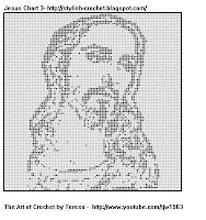 Filet Crochet Jesus...and I gave it to our church