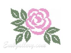"""Rose, cross stitch"""