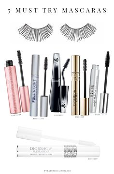 5 Must Try Mascaras I own the one on the left....it's amazing!!!!!