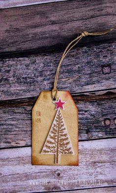 liebste schwester: skandinavische Weihnachten,  Die Stempel sind aus dem Set Christbaumfestival aus dem Winterkatalog von SU. , Weihnachtsanhänger, tag