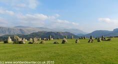 Castlerigg Stone Circle, one of Cumbria's many prehistoric stone circles - http://www.worldwidewriter.co.uk/2015/10/in-search-of-the-stone-circles-of-cumbria.html