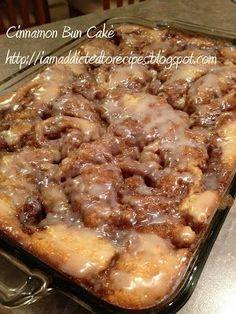 Addicted to Recipes: Cinabun Cake (Cinnamon Bun Cake).