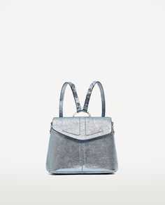 Image 2 of METALLIC BACKPACK WITH RING from Zara