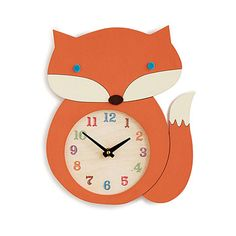 Look what I found at UncommonGoods: Fox Clock for $54.00