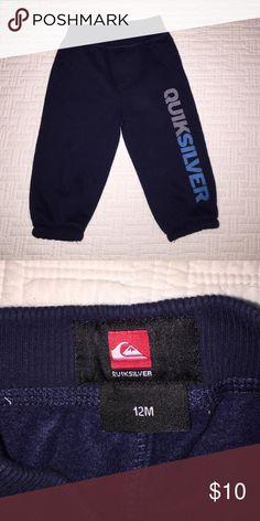 Quicksilver navy sweats 12M Quicksilver navy sweats 12M. Elastic ankle. Stretch waist. Quiksilver Bottoms Sweatpants & Joggers