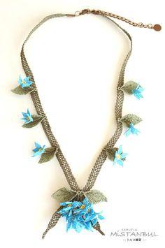 Silk needle lace igne oya necklace  high mountain by MiSTANBULcom, $53.00