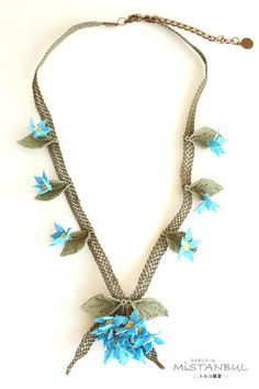 Silk needle lace igne oya necklace high mountain by MiSTANBULcom