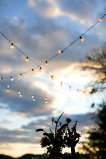 Sunset + string lights = an awesome party! http://www.partylights.com/String-Lights-Sets