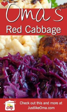 Red Cabbage Recipes made ❤️German red cabbage is a very traditional side dish to have on the dinner table. Vibrant in color, and taste❤️German red cabbage is a very traditional side dish to have on the dinner table. Vibrant in color, and taste German Red Cabbage Recipes, German Recipes Dinner, Purple Cabbage Recipes, Sweet And Sour Cabbage, Dutch Recipes, Hungarian Recipes, Cooking Recipes, Cooked Cabbage Recipes, Recipes