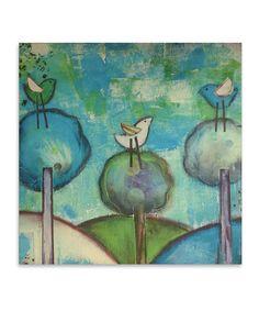 Look at this #zulilyfind! Three Birds Canvas by  #zulilyfinds