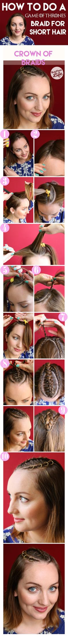 "The One for Short Hair: | 3 Easy ""Game Of Thrones"" Hair Tutorials Everyone Can Try"