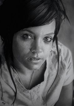 Lily Allen by Kelvin Okafor, via Flickr - He really captures the emotion and works from photo but mainly from memory, Is this skill with no creativity?