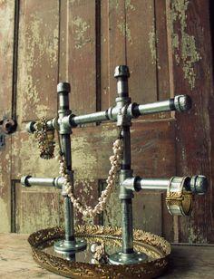 industrial chic jewelry display stand large door fivetenfifteen, $100.00