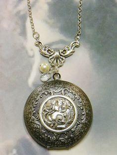Solid Perfume Locket Necklace Locket Necklace by SecretGardenNotes, $32.00