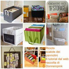 donneinpink magazine: Riciclare i cartoni dei pannolini - Riciclo scatole - 8 Tutorial