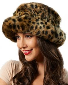 43c3605d6cc Avery Premium Faux Fur Hat in Cheetah Print Dress Hats