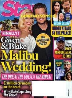 STAR MAGAZINE MARCH 22 2021 MEGHAN & HARRY TIGER WOODS GWEN & BLAKE AMELIA SCOTT Gwen And Blake, Star Magazine, Answered Prayers, Beach Ceremony, Tiger Woods, Life S, Cover Pics, For Stars, Amelia
