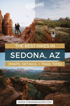 Discover our favorite Sedona hiking trails for your next epic adventure to Arizona! We're sharing popular Arizona hiking trails like Cathedral Rock, Devil's Bridge, and Soldiers Pass, but also lesser-known gems too! Save this for your next weekend trip to Sedona! #sedona #arizona #cathedralrock #devilsbridge #southwest #hiking #americansouthwest #soldierspass #birthingcave #america #USA Arizona Road Trip, Arizona Travel, Sedona Arizona, Travel Route, Travel Usa, Places To Travel, Travel Destinations, Weekend Hiking, Weekend Trips