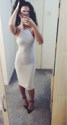 I Absolutely LOVE the Midi Skin Tight Dress Look! I'm On A Mission To Lose This Weight After This Baby!!!