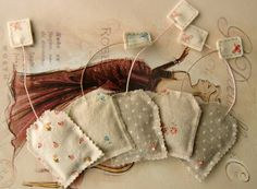 Gingermelon Dolls: September 2010  Lavender Sachets that look like tea bags. How cute!