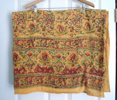 Vintage 1960s Hippie Bedspread Indian Print or Curtain Panel. MY 70's Bedspread!! Spectrum India<3