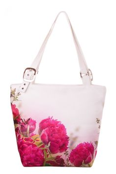 Hey, I found this really awesome Etsy listing at https://www.etsy.com/listing/239768029/dark-pink-peonies-print-handbag-floral