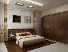 Bedroom Art Design Interior With Brown White Color Scheme