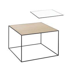 Twin Table 49 Sidobord, Vit/Ek 2999 kr. - RoyalDesign.se