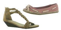 Sandalia 19,99 € y manoletina de esparto 13,99 € de Marypaz #zapatos