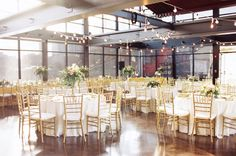 reception - all the advantages to being outdoors - but without the uncertainty of weather! Gorgeous industrial